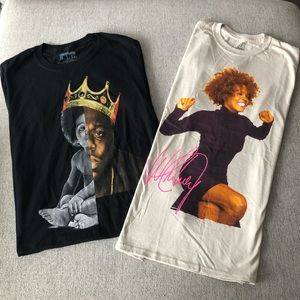 Urban Outfitters Shirt Bundle Whitney & Biggie NEW